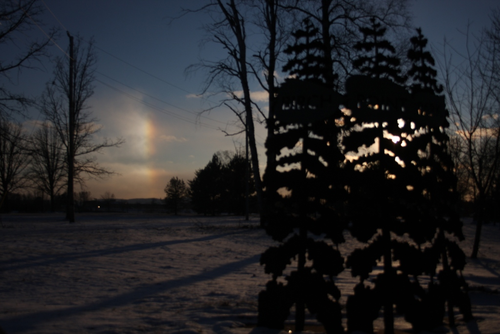 Sundog from Boulevard Lake - Dec 4, 2008