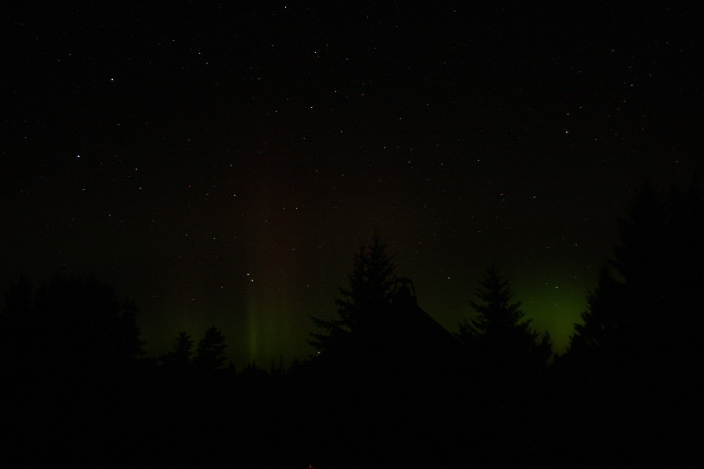 Northern Lights over Quetico Pavilion