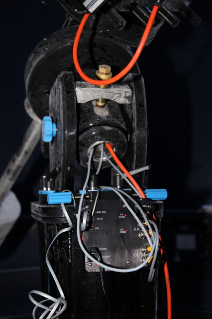 Showing Control Box (Siderial Technologies) and the Through the Shaft Cabling Feature