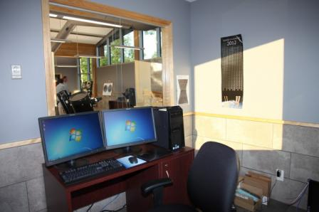 CONTROL ROOM (LOOKING OUT TO CLASSROOM)